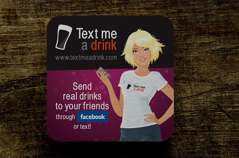 Text Me A Drink – Coaster recto