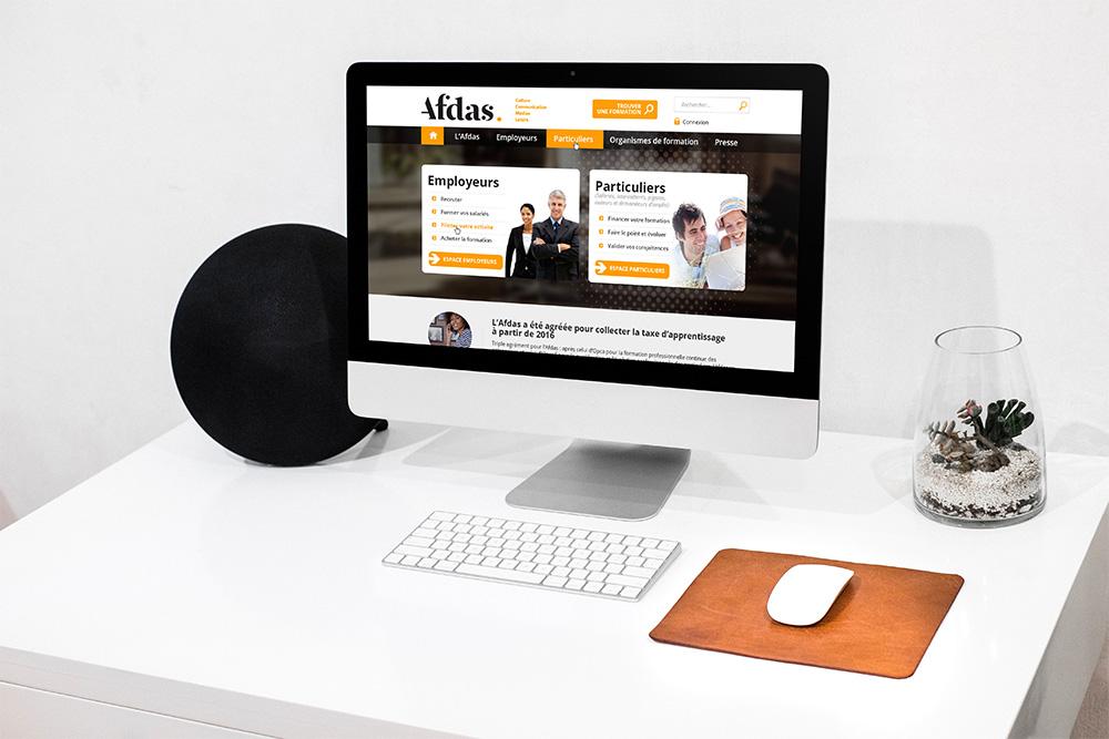 Afdas – Site internet