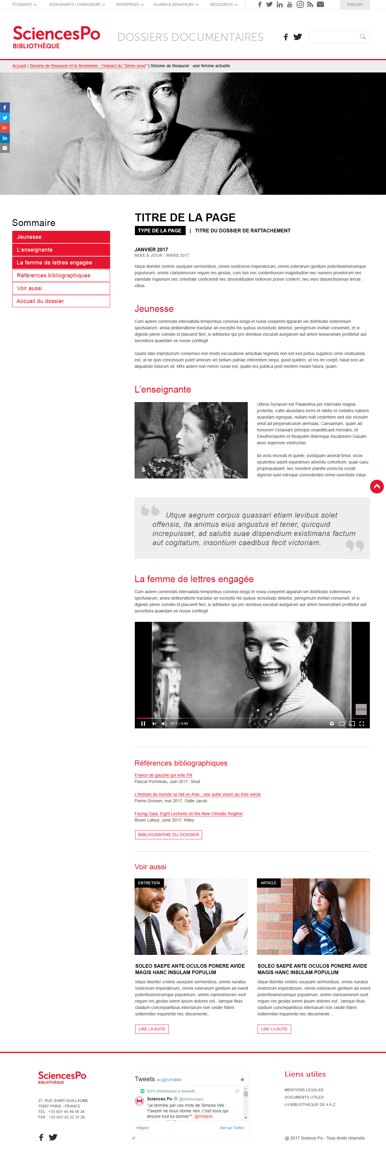 Sciences Po Documentaire – Article